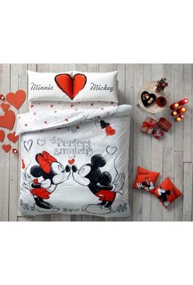 Taç Lisanslı Disney Minnie&Mickey Perfect Match Çift Kişilk Nevresim Takımı