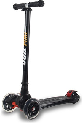 Voit 218 Işıklı 3 Teker Scooter Siyah