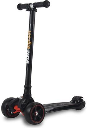 Voit 218 Işıklı Geniş 3 Teker Scooter Siyah