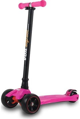 Voit 218 Işıklı Geniş 3 Teker Scooter Fuşya