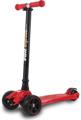 Voit 218 Işıklı Geniş 3 Teker Scooter Kırmızı