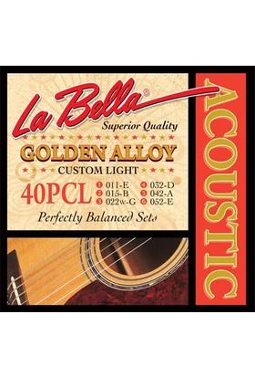 Gitar Aksesuar Akustik Tel Labella 40PCL 0,11