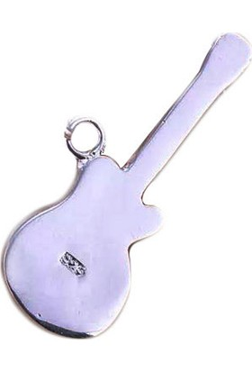 Hediyelik Gitar Kolye Ucu Gümüş GKU