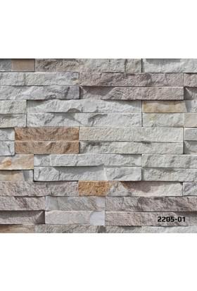 Bossini 2205-01 Taş Desenli 3 Boyutlu Duvar Kağıdı