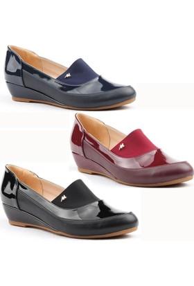 Christina 3300 Büyük Numara Bayan Ayakkabı Günlük Abiye Dolgu 3.5 Cm