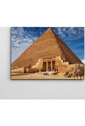 Dekolata Mısır Piramiti Kanvas Tablo