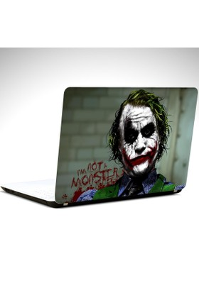 Dekolata Joker Ben Monster Değilim Laptop Sticker