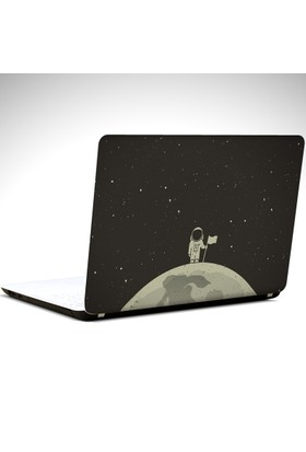 Dekolata Ay ve Astronot Laptop Sticker