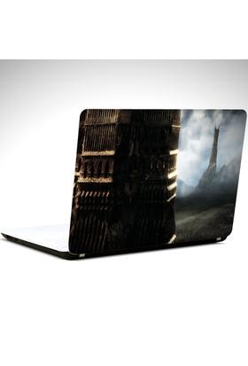 Dekolata Yüzüklerin Efendisi İkiz Kule Laptop Sticker