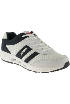 Jump 10078 Bağlı Beyaz Unisex Spor Ayakkabı