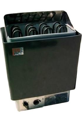 Fintech Ftn - 60 Sauna Sobası 6 Kw Üzerinden Kumandalı Siyah 5 - 9 M³