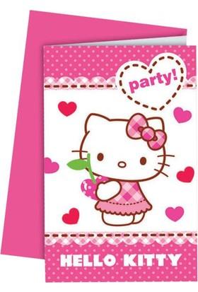 Partiland Hello Kitty Davetiye Ve Zarf 6 Adet