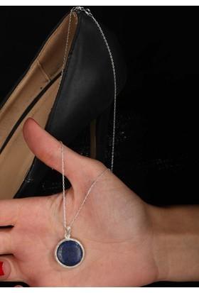 Dr Stone Lapis Lazuli 925Ayar Gümüş Kadın Kolye 120Ar795