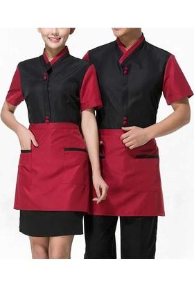 Salon Giyim Belden Bağlamalı Garson ve Servis Önlüğü FR21 - 5 adet