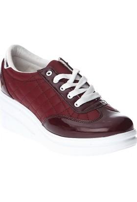 Esem EK205 Günlük Giyim Kadın Ayakkabı Bordo