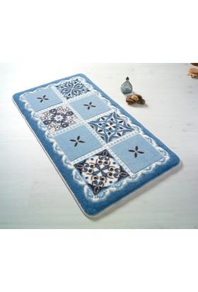 Confetti Ceramic 80 x 140 Mavi Oymalı