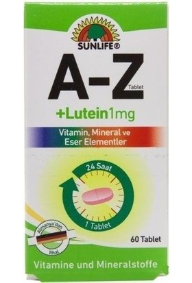 Sunlifea-Z+ Lutein 1 Mg 60 Tablet