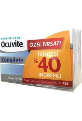 Baushe Lomb Ocuvite Complete 2 Li Fırsat Paketi 2 X 60Kapsül