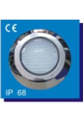 Poolline 12V Kovanlı Krom Power Led Beyaz Havuz Lambası