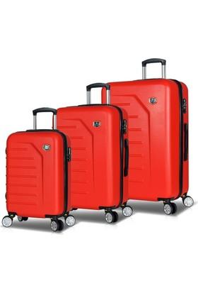 My Valice Premium Abs 3'Lü Valiz Seti Kırmızı