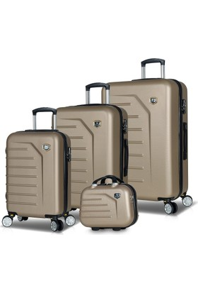 My Valice Premium Abs 4'Lü Travel Valiz Seti Gold