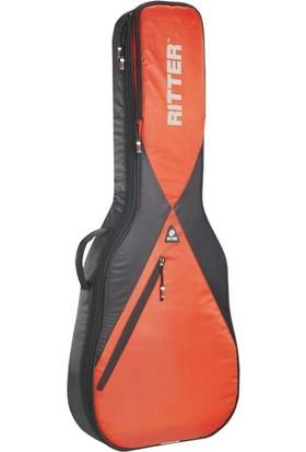 Ritter Rgp5-D-Brr Akustik Gitar Kılıfı (Black - Racing Red)