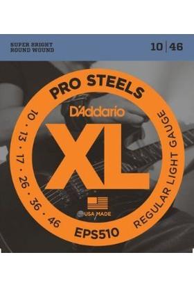 Daddario Eps510 Pro Steels(Çelik) Regular Light 0.10-0.46