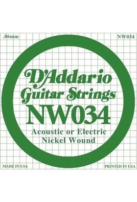 Daddario Nw034 Elektro Ve Akustik (A) La Teli