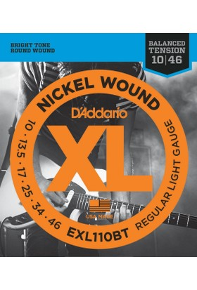 Daddario Exl110Bt Xl Regular Light Balanced Tension 0.10-0.46