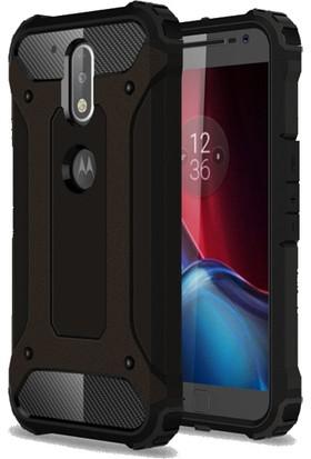 Microcase Motorola Moto G4 Plus Armor Hybrid Kılıf+Nano Glass