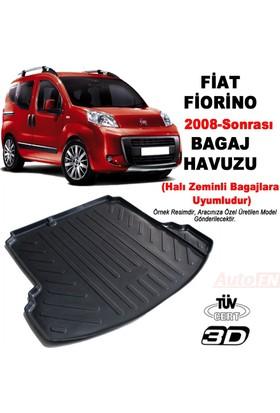 AutoEN Fiat Fiorino Combi (Halı Kaplı Bagaj) 3D Bagaj Havuzu
