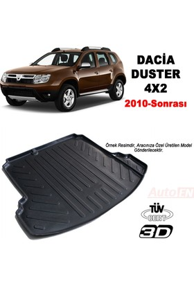 AutoEN Dacia Duster 4X2 3D Bagaj Havuzu 2010 ve üzeri