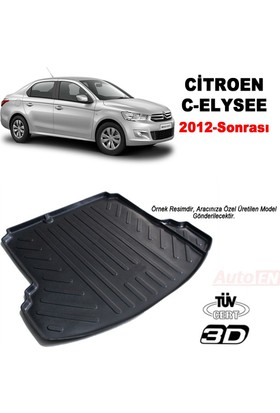 AutoEN Citroen C-Elysee 3D Bagaj Havuzu