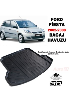 AutoEN Ford Fiesta 3D Bagaj Havuzu 2002-2008