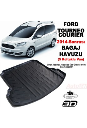 AutoEN Ford Courier (Koltuklu Van) 3D Bagaj Havuzu