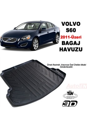AutoEN Volvo S60 3D Bagaj Havuzu 2011 ve üzeri