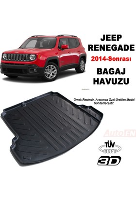 AutoEN Jeep Renegade 3D Bagaj Havuzu 2014 ve üzeri