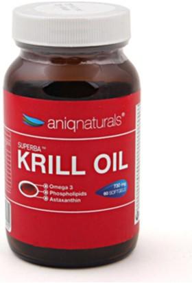 Aniqnaturals Superba Krill Oil Yağı Cam Şişe 730 Mg 60 Softgel