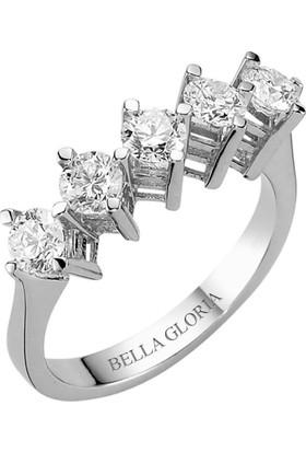 Bella Gloria 1,21ct Pırlanta Beştaş Alyans (AL15010)