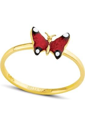 Bella Gloria Kırmızı Kelebek Yüzük (PR78047)