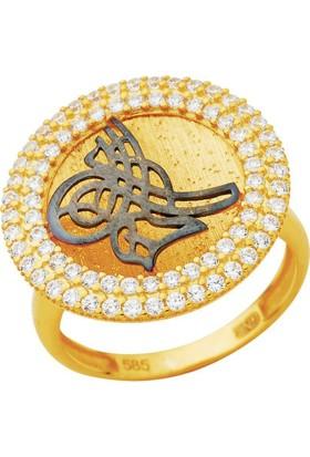 Bella Gloria Osmanlı Tuğrası Altın Yüzük (PR78331)