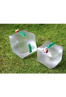 Pratik Katlanabilir Musluklu Su Bidonu (10 Lt)