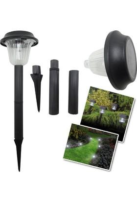 Pratik Kablosuz Solar Plastik Bahçe Lambası Garden Lamp (Büyük)