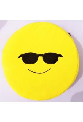 Pratik Gözlüklü Emoji Yastık - O90