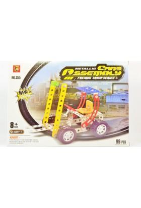 Pratik 99 Parça Metal Lego Forklift - V42