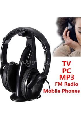 Cyber 5İn1 Kablosuz Kulaklık Fm Radyo Mikrofonlu