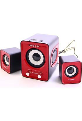 Kama Multiaudio 2+1 Usb+Sd+Fm Destekli Multimedia Speaker