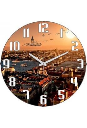 Mytech Manzaralı Duvar Saat Kamera 24 Saat Çekim
