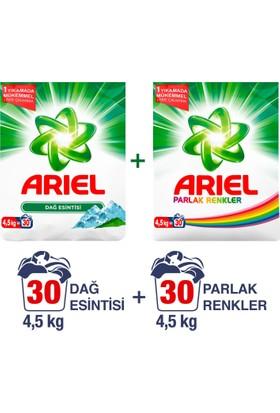 Ariel Toz Çamaşır Deterjanı Dağ Esintisi 4.5 kg + Parlak Renkler 4.5 kg