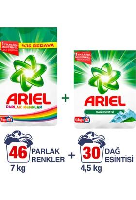 Ariel Toz Çamaşır Deterjanı Dağ Esintisi 7 kg + Parlak Renkler 4.5 kg